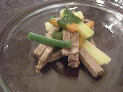 牛タンのサラダ